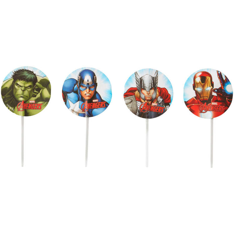 Marvel's Avengers Cupcake Toppers, 24-Count