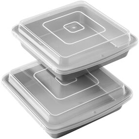 Recipe Right Square Non-Stick Covered Brownie Pan Multipack, 9 in. x 9 in. (2-Pack)