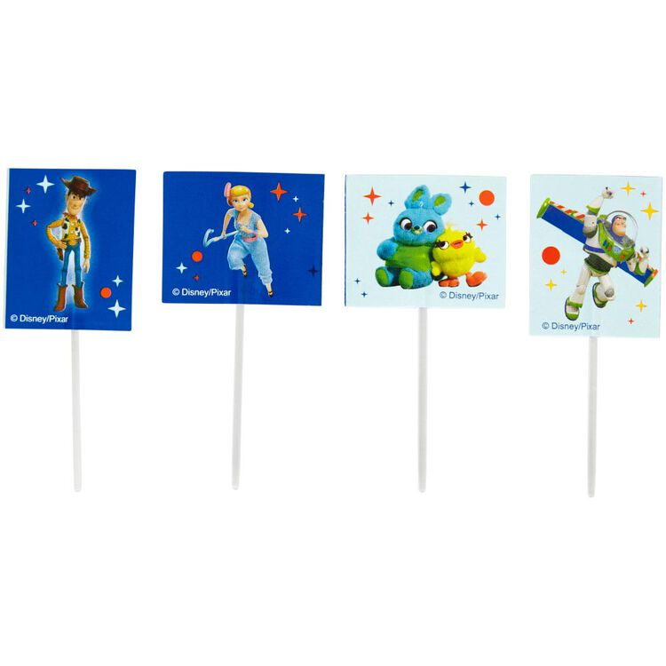 Disney Pixar Toy Story 4 Cupcake Toppers, 24-Count