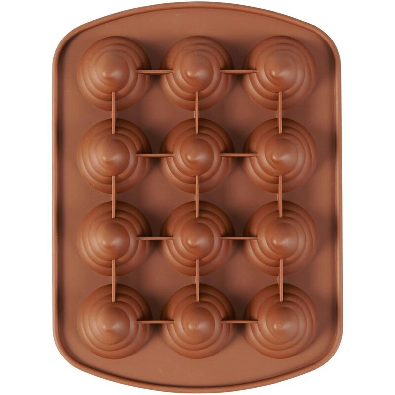 Rosanna Pansino by Silicone Swirl Candy Mold, 12-Cavity image number 2