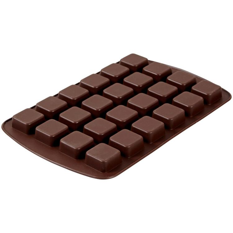 Bite-Size Brownie Squares Silicone Mold, 24-Cavity