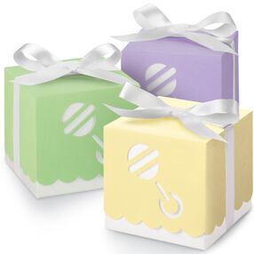 Assorted Color Baby Rattle Boxes