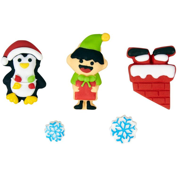 Gingerbread House Santa and Helpers Decoration Kit, 0.53 oz.