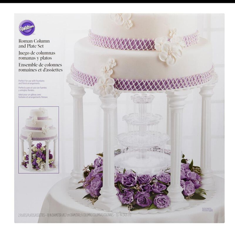 Roman Column Tiered Wedding Cake Stand, 8-Piece image number 1