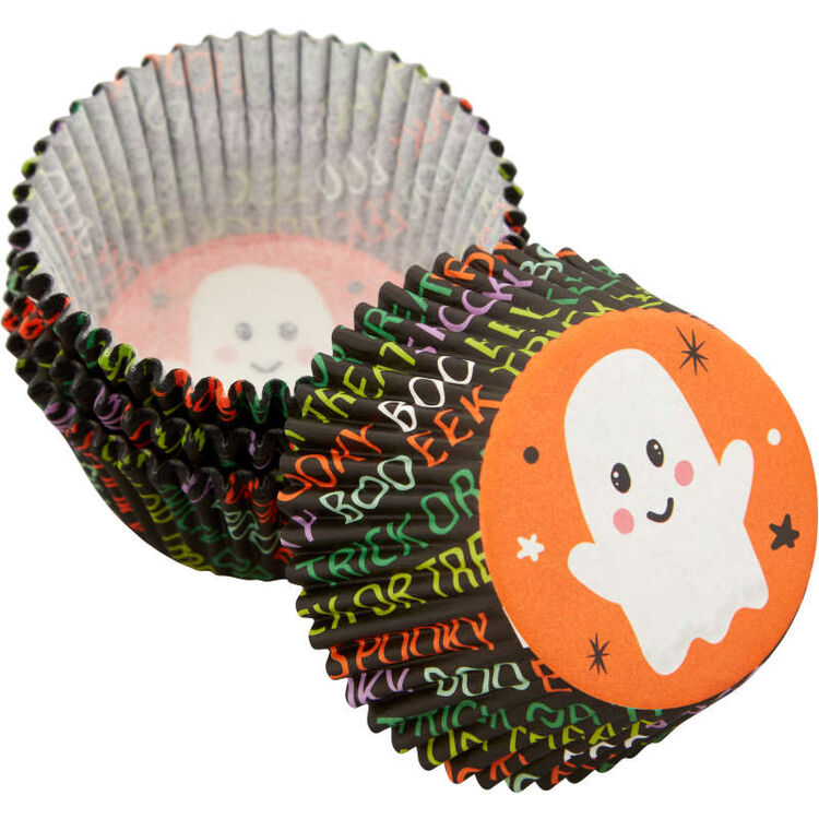 Whimsical Ghost Standard Halloween Cupcake Liners, 75-Count