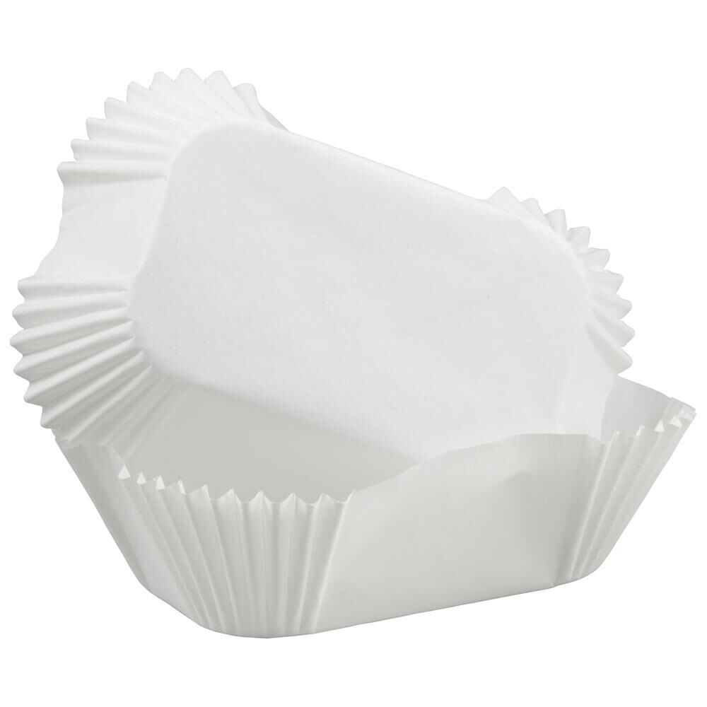 Petite Loaf Wilton White Baking Cases pack of 50