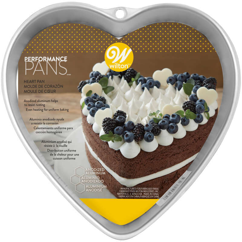 9 Inch Heart Cake Pan in Packaging image number 1