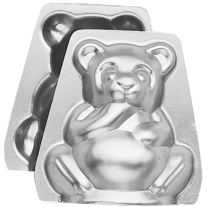 Mini Bear Cake Pan, 3-D Cake Pans Set, 2-Piece image number 0