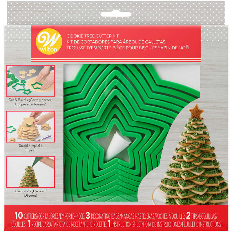 Christmas Cookie Tree Cutter Kit, 15-Piece image number 1