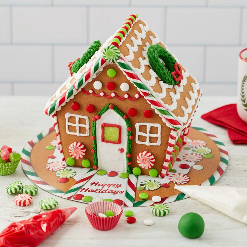 Ready to Decorate Big, Bright and Giant Gingerbread House Decorating Kit image number 3