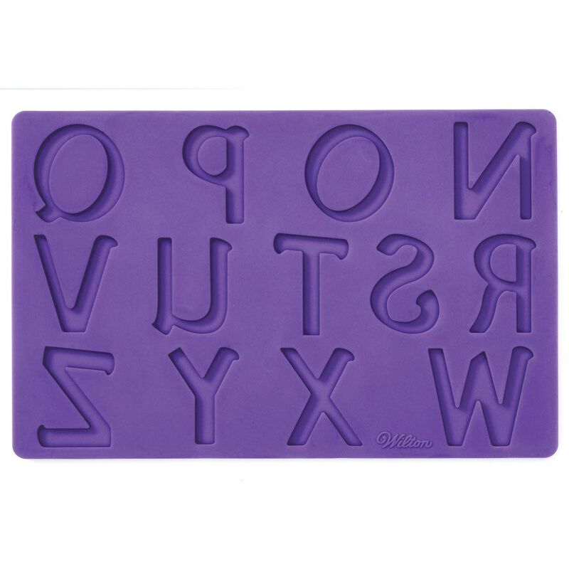 Silicone Letters and Numbers Fondant and Gum Paste Molds, 4-Piece - Cake Decorating Supplies image number 3