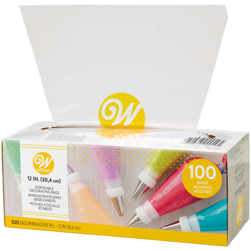 12-Inch Disposable Cake Decorating and Pastry Bags, 100-Count image number 0