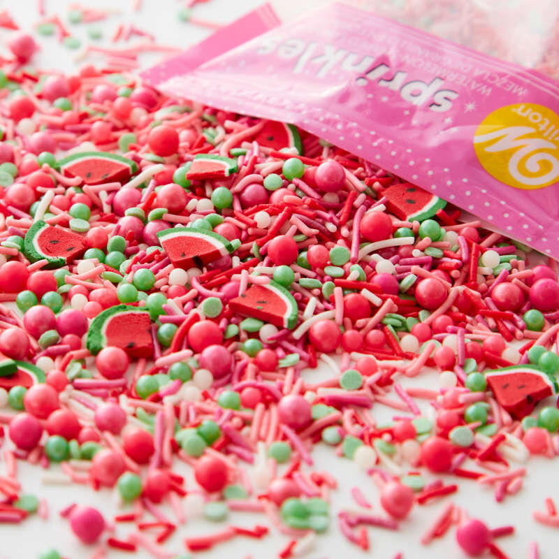 Pink Watermelon Shaped Sprinkles Mix, 10 oz. image number 0
