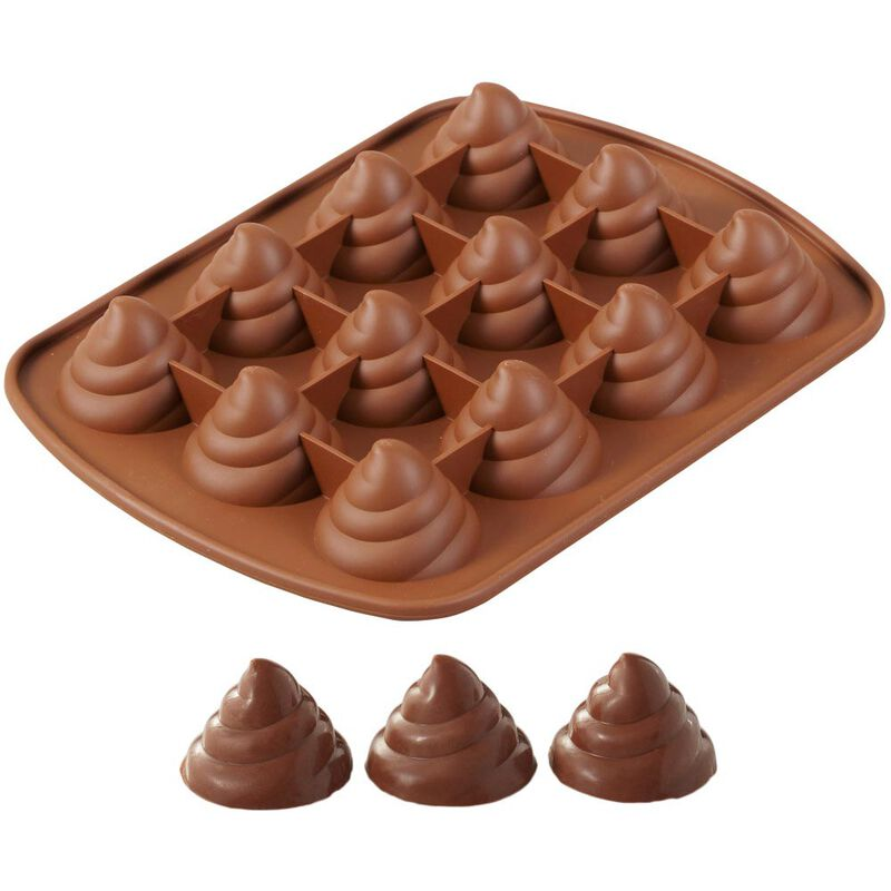 Rosanna Pansino by Silicone Swirl Candy Mold, 12-Cavity image number 0