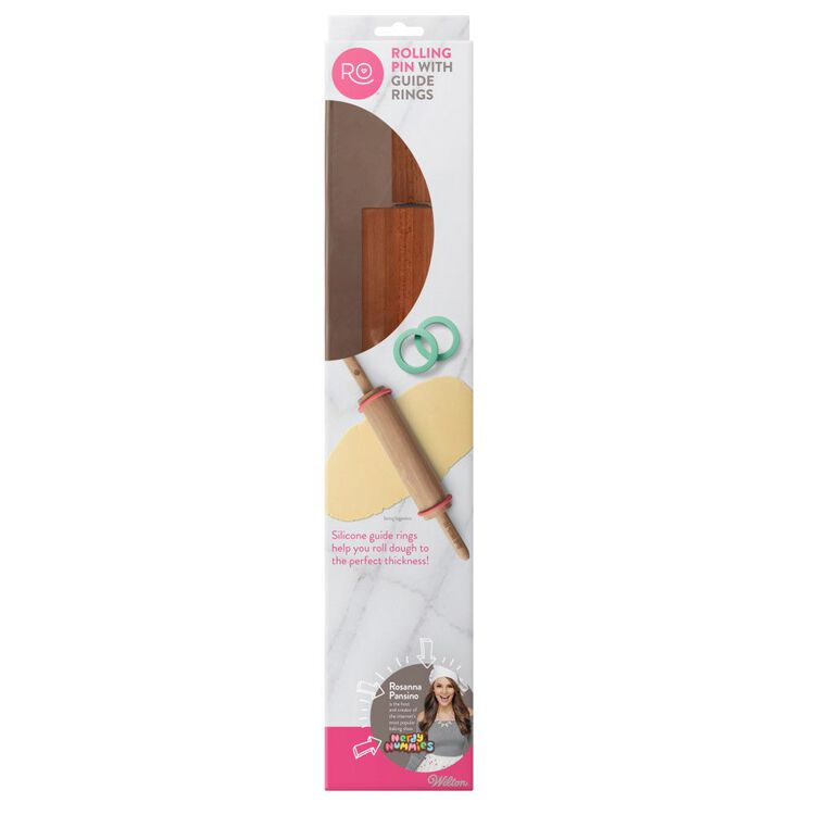 ROSANNA PANSINO by Rolling Pin, 10-Inch - Wooden Rolling Pin