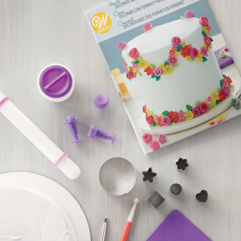 How to Decorate with Fondant Shapes and Cut-Outs Kit, 14-Piece image number 3