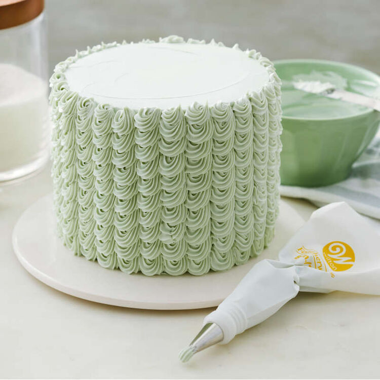 Green Decorated Cake