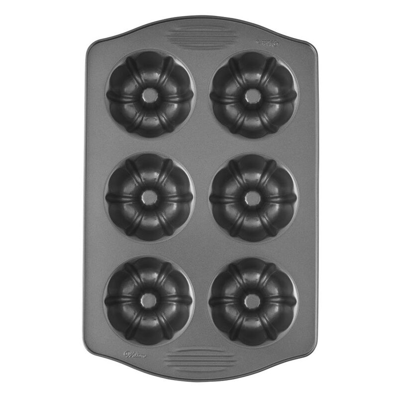 Excelle Elite Mini Fluted Tube Cake Pan, 6-Cavity image number 0