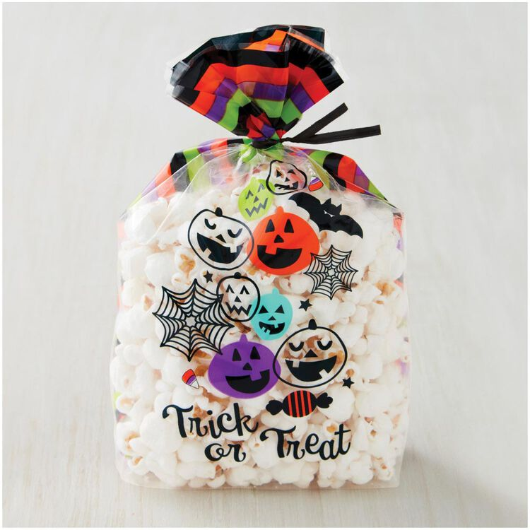 Trick or Treat Halloween Treat Bags, 20-Count