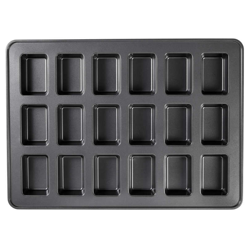 Perfect Results Premium Non-Stick Bakeware Mini Loaf Pan, 18-Cavity image number 0