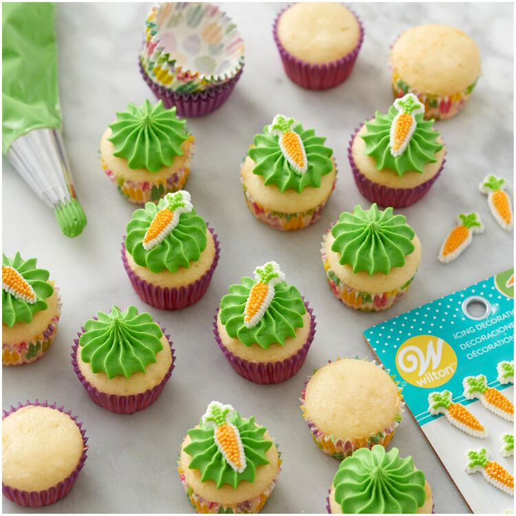Carrot Icing Decorations, 25-Count