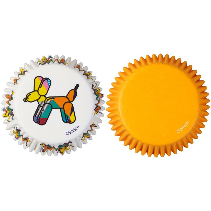 Balloon Dogs and Solid Orange Cupcake Liners, 75-Count image number 0