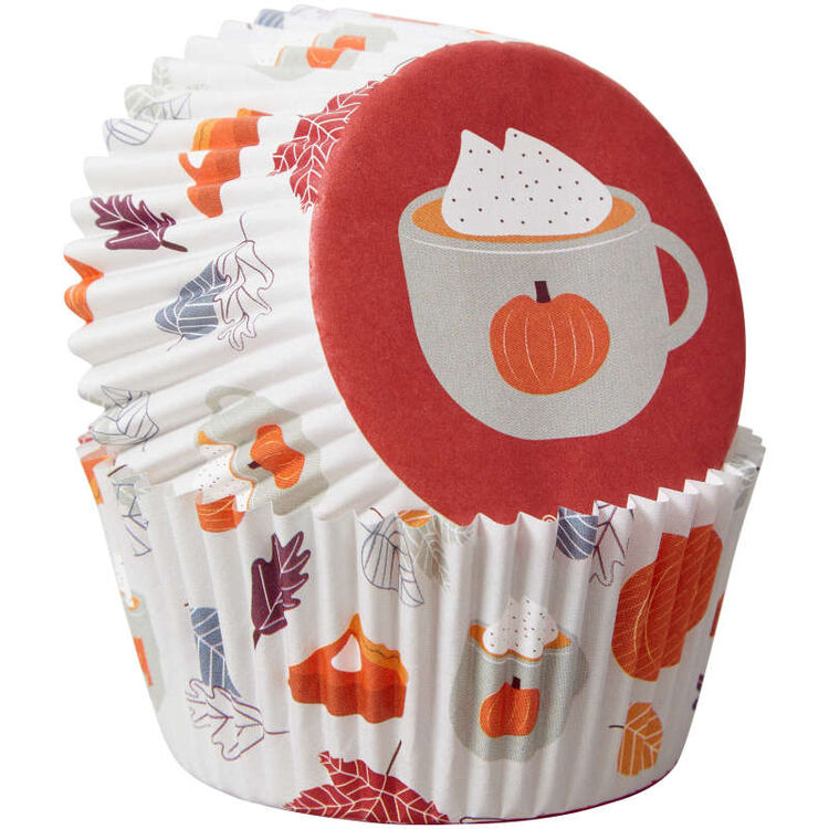 Welcome Fall Cupcake Liners, 75-Count