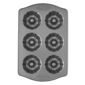 Excelle Elite Mini Fluted Tube Cake Pan, 6-Cavity