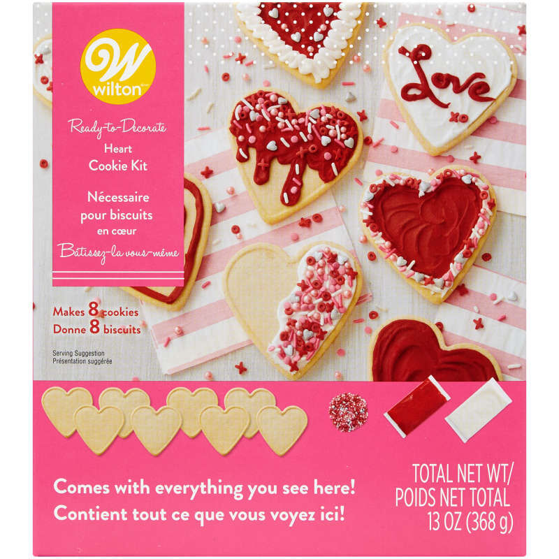 Ready-to-Decorate Heart Cookie Kit image number 0