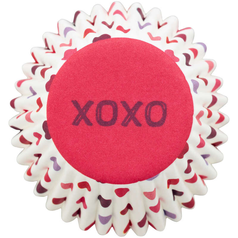 XOXO Mini Cupcake Liners, 100-Count image number 0
