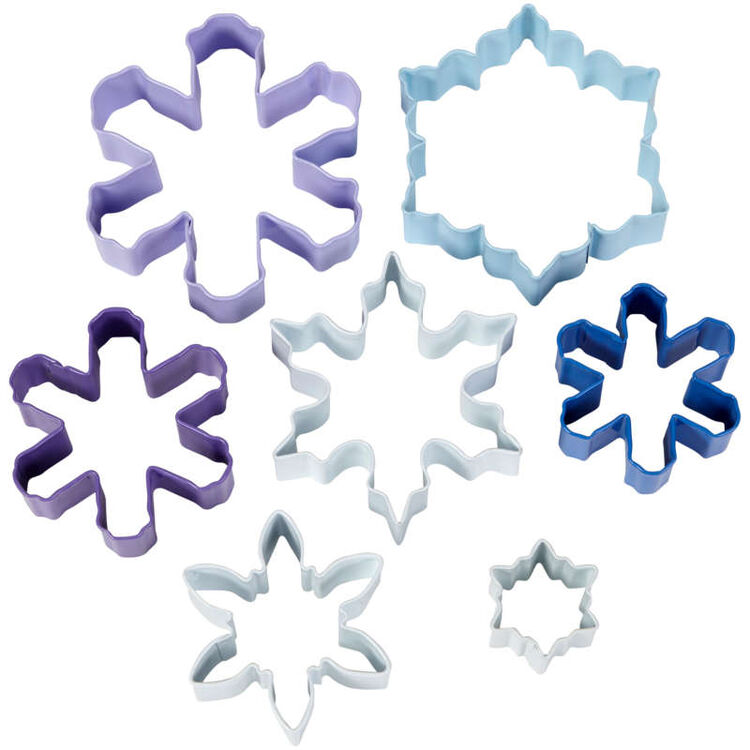 Snowflake Cookie Cutters Set, 7-Piece