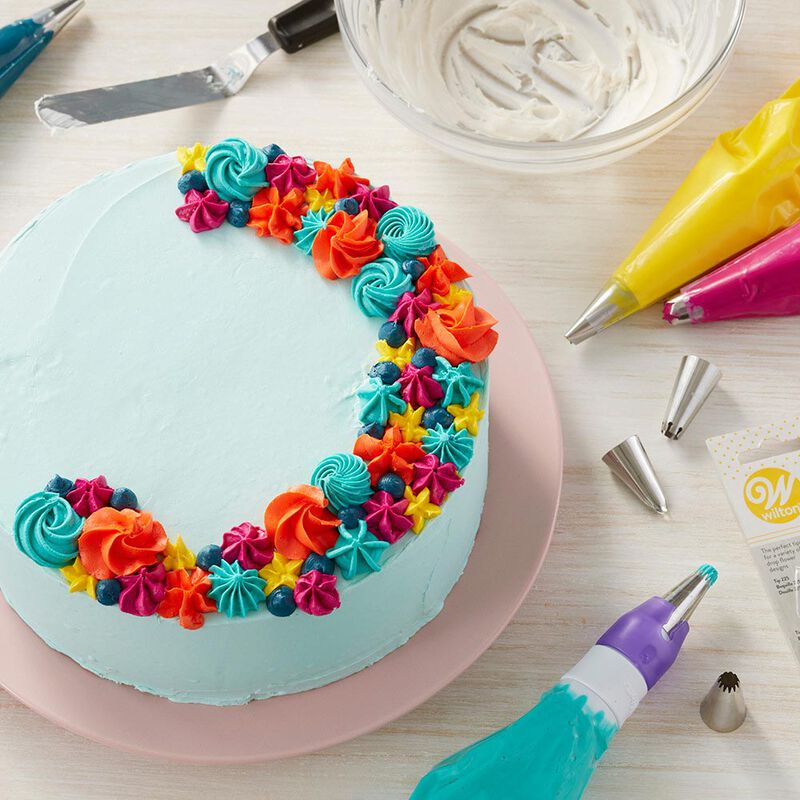 Icing Decorating Tips Set - Tips for Writing, Flowers, Ruffles or Borders image number 3
