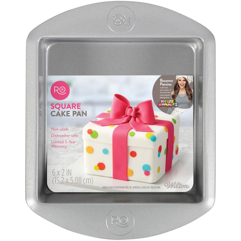 Rosanna Pansino by Non-Stick Square Cake Pan, 6-Inch image number 1