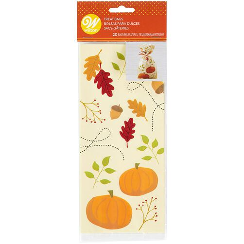 Fall Pumpkin Party Bags, 20-Count