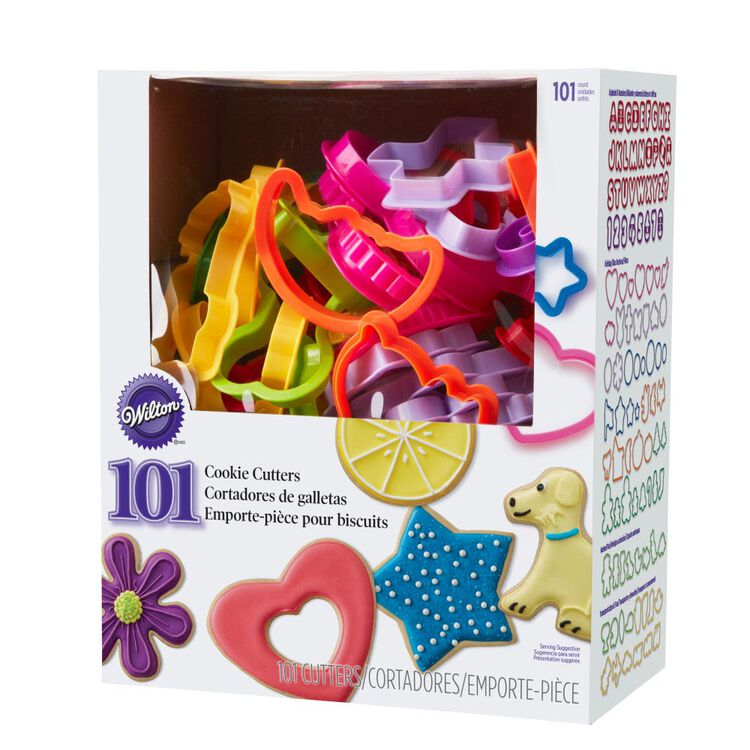 Plastic Cookie Cutter Set, 101-Piece