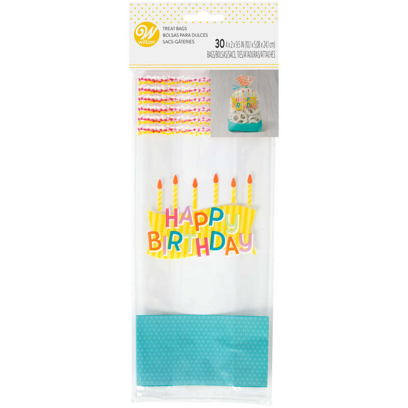 Happy Birthday Treat Bags, 30-Count image number 1