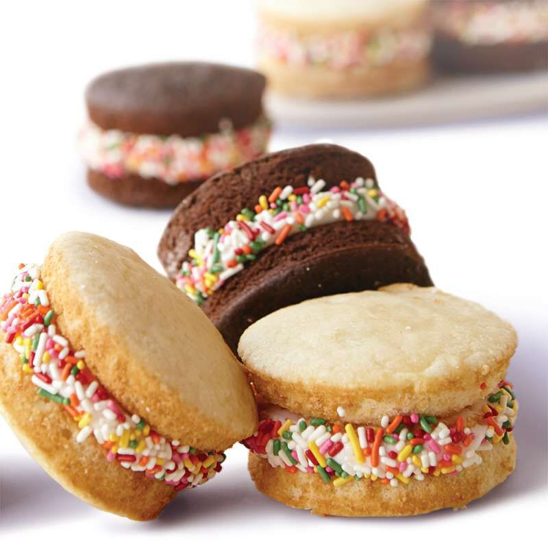 Chocolate and Vanilla Muffin Top Cream Sandwiches image number 4