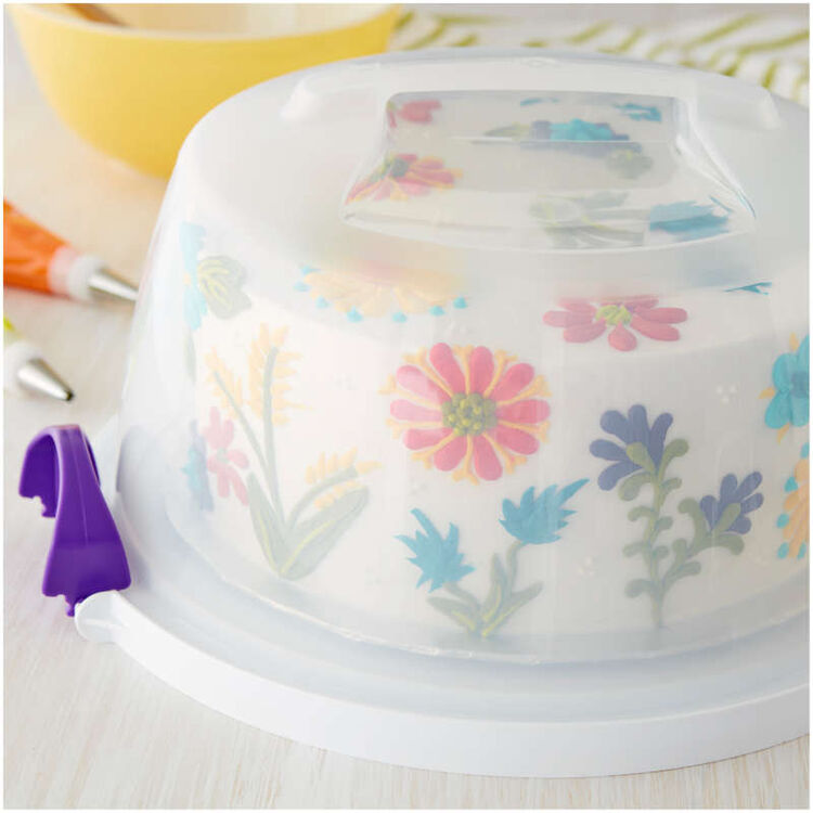 Flower Cake in Cake Carrier with Cover