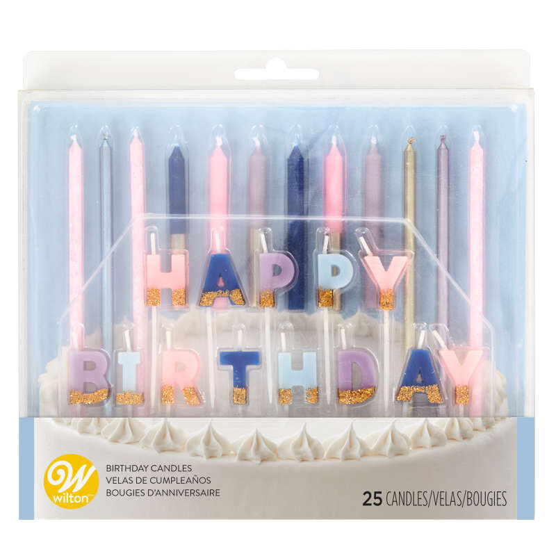 Floral Party Birthday Candle Set, 25-Count image number 0