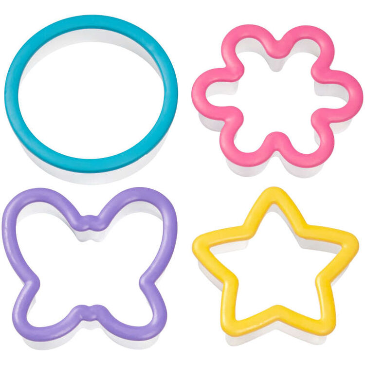 Assorted Grippy Cookie Cutters, 4-Piece