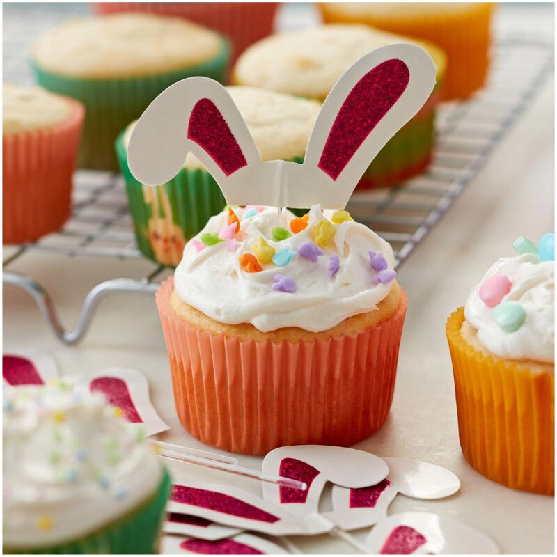 Bunny Ears Cupcake Toppers, 24-Count image number 2