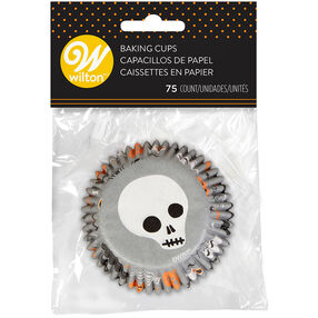 Halloween Patterned Cute Skull Cupcake Liners, 75-Count