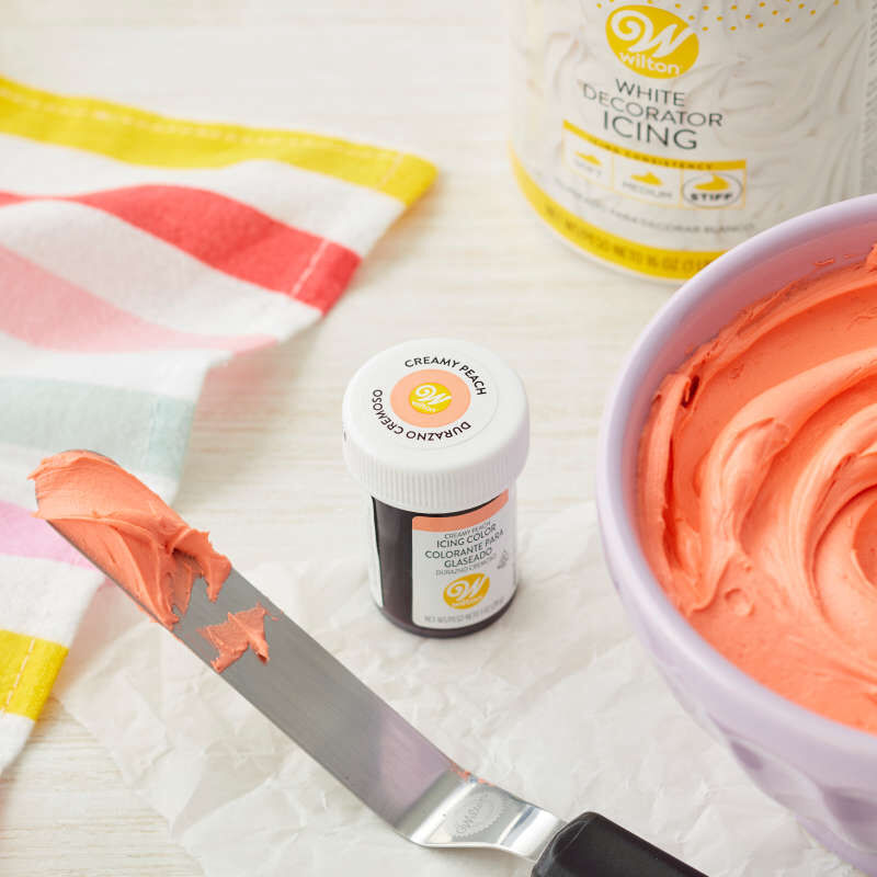 Creamy Peach Icing Color, 1 oz. image number 2