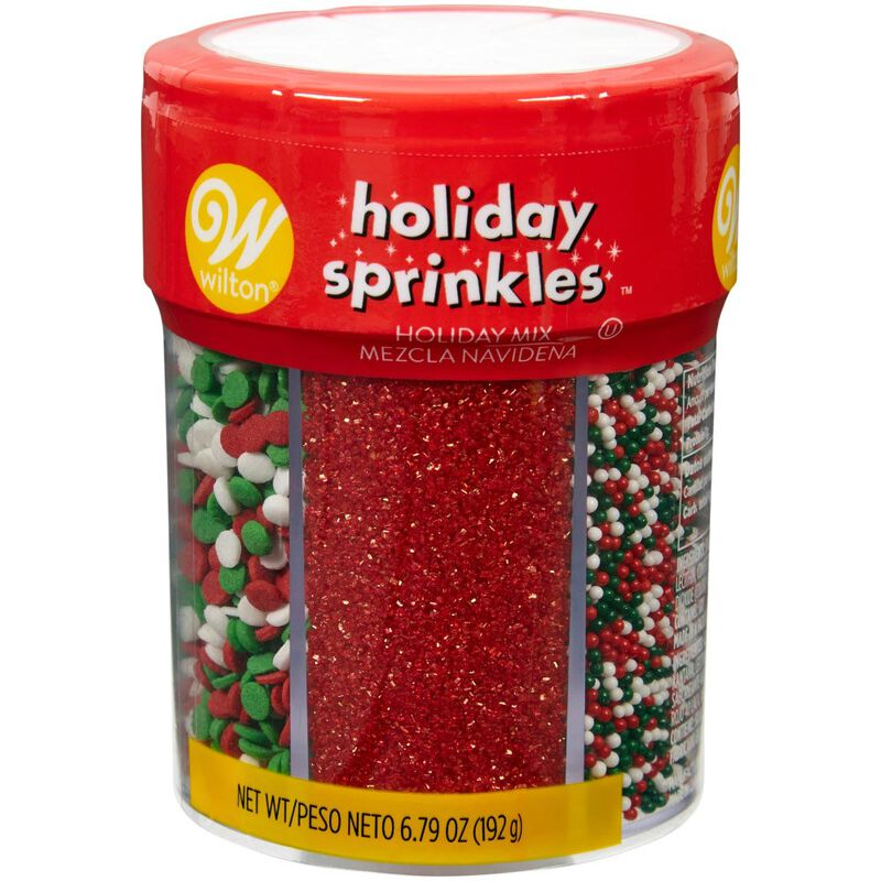 Red, Green and White Holiday 6-Cell Sprinkles Mix, 6.79 oz. image number 0