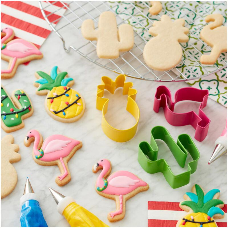 Tropical Christmas Cookie Cutter Set, 3-Piece image number 2