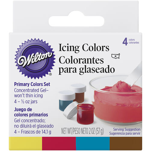 Primary 4 Icing Colors Set Wilton