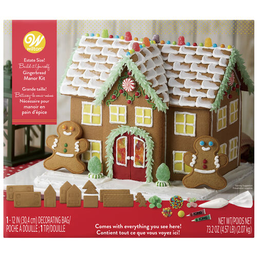 Build-It-Yourself Gingerbread Manor Decorating Kit