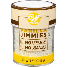 Naturally Flavored Vanilla Jimmies Sprinkles 1.76 oz