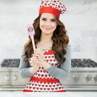 Rosanna Pansino by Apron and Hat Set, 2-Piece