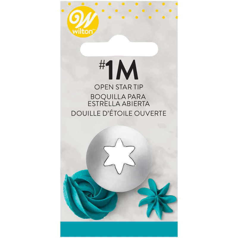 Open Star Cake Decorating Tip 1M image number 2